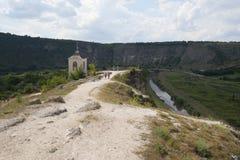 Campanario del monasterio de la cueva Fotografía de archivo