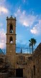 Campanario del monasterio medieval de Agia Napa Imágenes de archivo libres de regalías