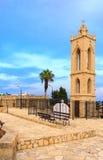 Campanario del monasterio medieval de Agia Napa Imagen de archivo