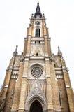 Campanario del nombre de Mary Church imagenes de archivo