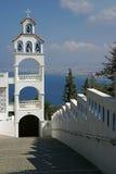 Campanario en Creta, Grecia Imágenes de archivo libres de regalías