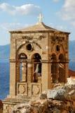 Campanario en el Monemvasia, Grecia fotos de archivo libres de regalías