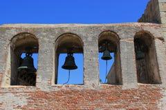Campanario en la misión San Juan Capistrano Fotos de archivo