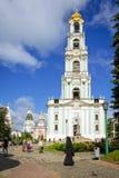 Campanario en la trinidad santa Lavra en Rusia Fotografía de archivo libre de regalías
