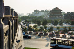 Campanario en provincia de Xi'an, Shaanxi, China fotos de archivo libres de regalías