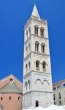 Campanario en Zadar Foto de archivo