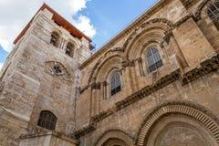 Campanario, iglesia de Santo Sepulcro foto de archivo libre de regalías