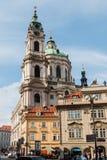 Campanario San Nicolás en Praga, fotos de archivo libres de regalías