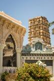 Campanario y palacio de Thanjavur foto de archivo