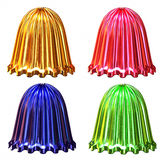 Campanas coloreadas decorativas brillantes aisladas Imágenes de archivo libres de regalías