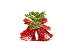 Campanas de la Navidad en el fondo blanco Foto de archivo libre de regalías