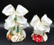 Campanas de la Navidad hechas a mano foto de archivo