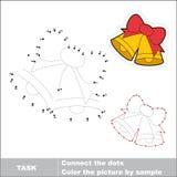 Campanas de Navidad con el arco que se remontará Juego de números del vector Foto de archivo