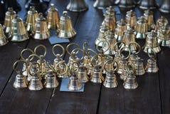 Campanas de oro Foto de archivo libre de regalías