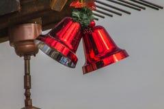 Campanas de plata rojas Imagen de archivo