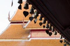 Campanas del corazón en templo Imagen de archivo