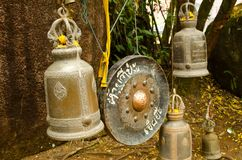 Campane bronzee e gong Fotografie Stock Libere da Diritti
