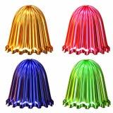 Campane colorate decorative brillanti isolate Immagini Stock Libere da Diritti