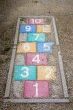 Campane Colourful dell'annata di lerciume Fotografia Stock