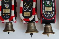 Campane decorative Tirolo del sud della mucca Immagini Stock Libere da Diritti