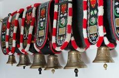 Campane decorative Tirolo del sud della mucca Fotografia Stock