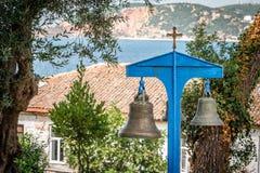 Campane di Chursh nell'isola di Burgaz, Turchia Fotografia Stock Libera da Diritti