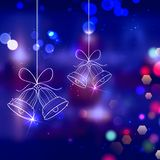 Campane di tintinnio per la decorazione di Natale Fotografia Stock Libera da Diritti