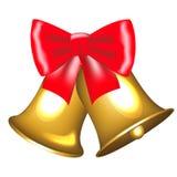 Campane dorate con l'arco Fotografie Stock