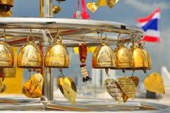 Campane dorate votive Fotografia Stock Libera da Diritti