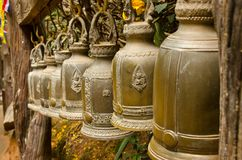 Campane tailandesi bronzee Fotografie Stock