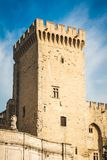 Campane Tower of Pope`s Palace. Campane Tower of Papal Palace in Avignon, France, largest medieval fortress and gothic palace of Europe and Unesco World Heritage royalty free stock image