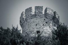 Campanella góruje, stary genueńczyka wierza, Corsica Obraz Stock
