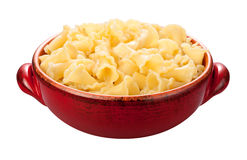 Campanelle Pasta Bowl isolated Royalty Free Stock Photos