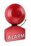 Campanello di allarme sopra bianco Fotografie Stock Libere da Diritti