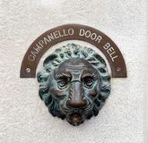 Campanello door bell, Venice, Italy stock photography