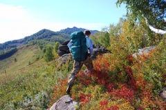 Campanha às montanhas Foto de Stock Royalty Free