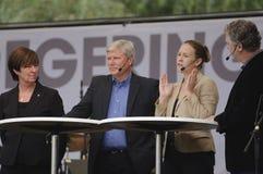 Campanha de eleição sueco Fotos de Stock Royalty Free