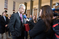 Campanha de Geert Wilders Imagem de Stock Royalty Free