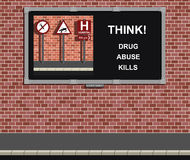 Campanha do abuso de drogas Imagem de Stock