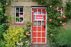 Campanha eleitoral, Londres, Reino Unido - em junho de 2017 imagens de stock royalty free