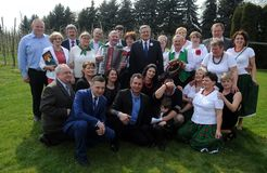 Campanha presidencial de Bronislaw Komorowski Foto de Stock