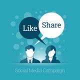 Campanha social dos meios Fotos de Stock Royalty Free