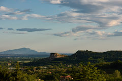 Campania Felix, Ce van uitzichtda Teano Stock Afbeelding