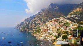 Campania Italia de la costa del amalfitana de Positano fotografía de archivo libre de regalías