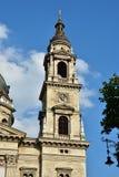 Campanil de Szent Istvan Bazilika Imagen de archivo libre de regalías