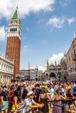 Campanil y plaza San Marco Fotografía de archivo