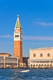 Campanila bell tower at piazza San Marco in Venice Royalty Free Stock Photography