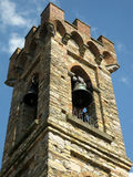 Campanile. View of a bell-tower in countryside of Florence (ITaly Royalty Free Stock Photo