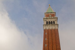 Campanile. Bell tower in San Marco, Venice Royalty Free Stock Photography