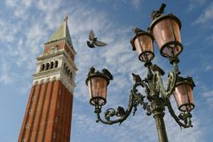 Campanile. The Campanile in St. Mark's Square, Venice Royalty Free Stock Images